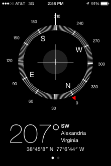 """Compass"" app screen capture"