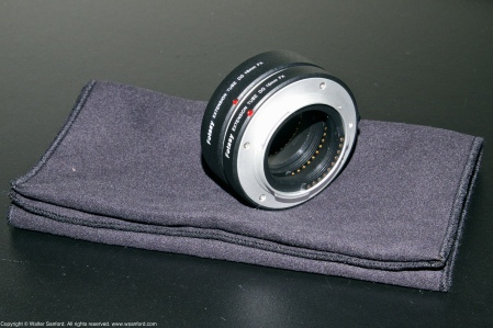 """Fotasy"" brand extension tubes for Fujifilm X-T1 digital cameras."