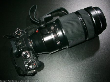 Fujifilm X-T1 digital camera plus Fujinon 100-400mm telephoto zoom lens.