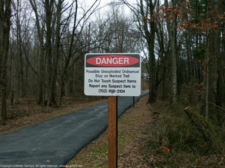 Signage at Jackson Mile Abbott Wetland Refuge, Fairfax County, Virginia USA.
